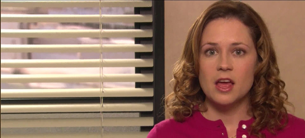 Pam expresses her feelings on The Office