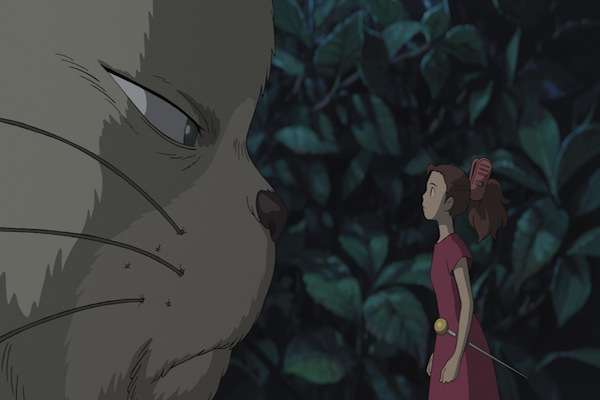 The Secret World of Arrietty image of cat and Arrietty
