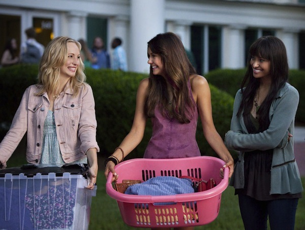Elena, Caroline and Bonnie in The Vampire Diaries