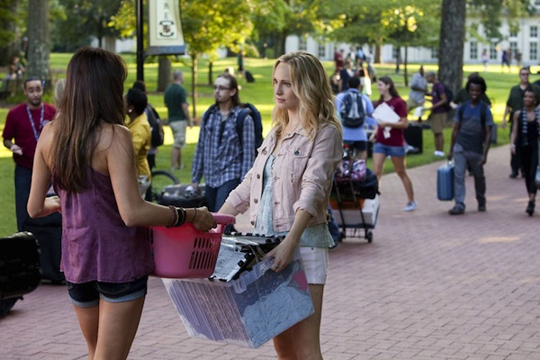 Caroline and Elena in The Vampire Diaries