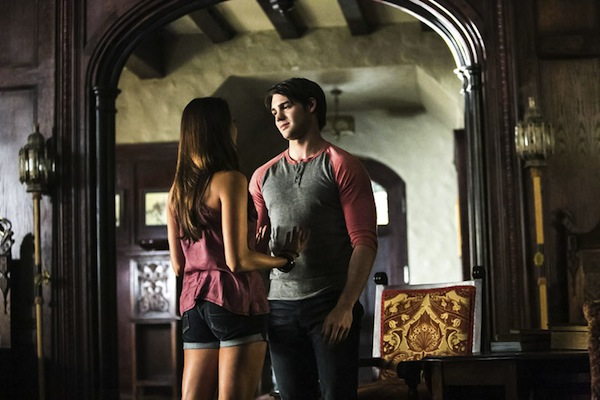 Jeremy and Elena in The Vampire Diaries