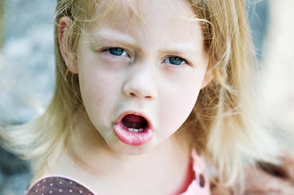 Toddler girl temper tantrum