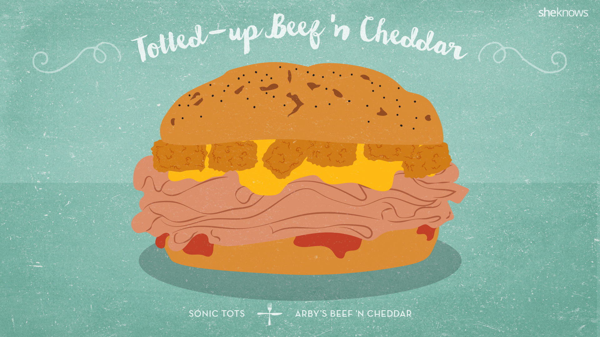 Totted-up Beef n Cheddar