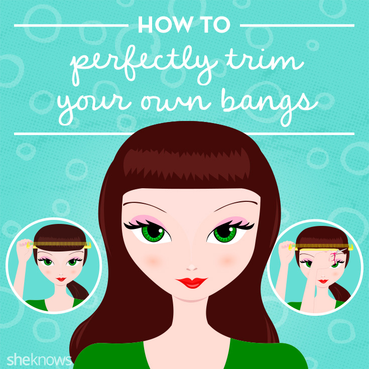 How to cut your own bangs without it ending in disaster