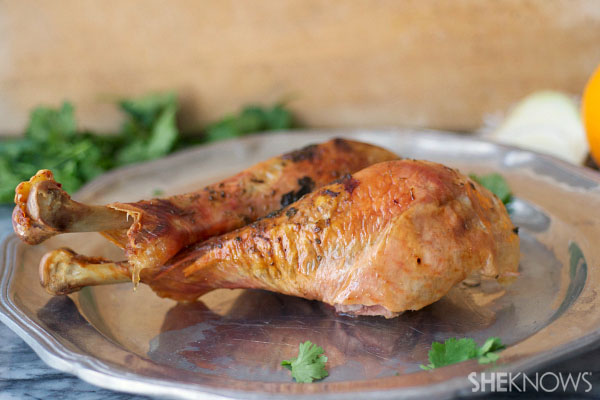 Herb-roasted turkey legs
