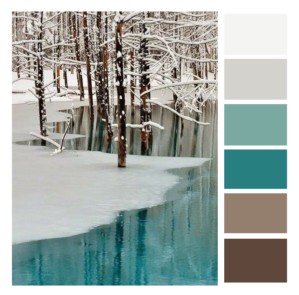 turquoise pallet
