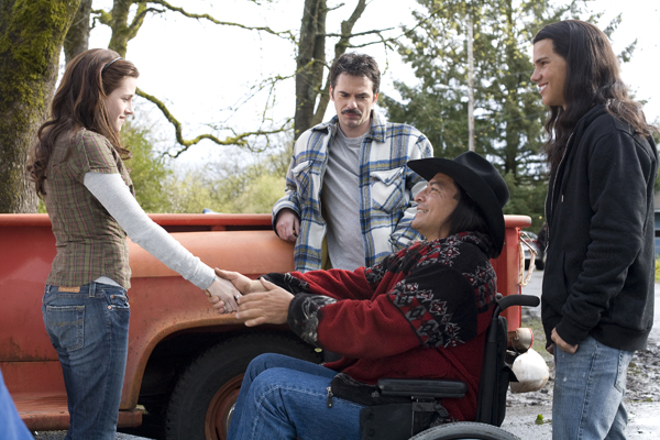 Bella first meets Jacob and his dad - Jacob will be a huge character in upcoming films