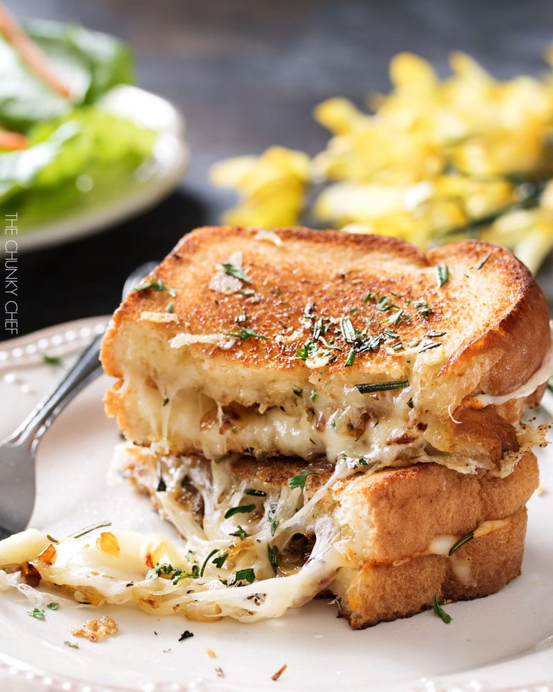 Gruyere & caramelized onions grilled cheese