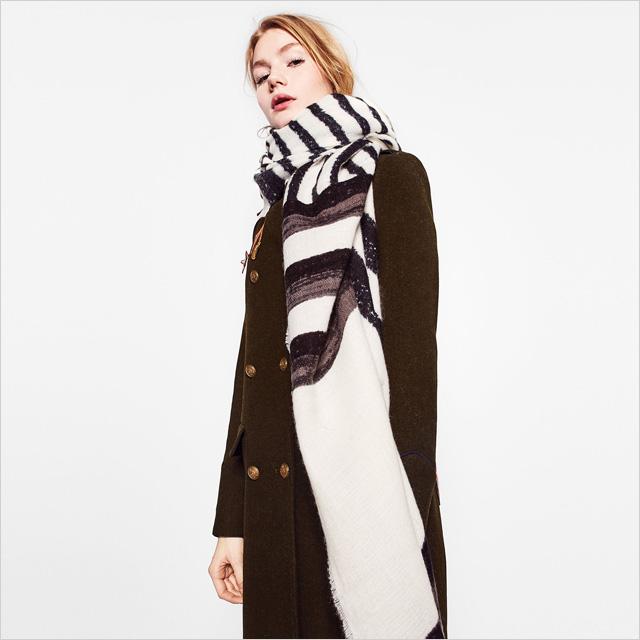 Zara Soft Striped Scarf