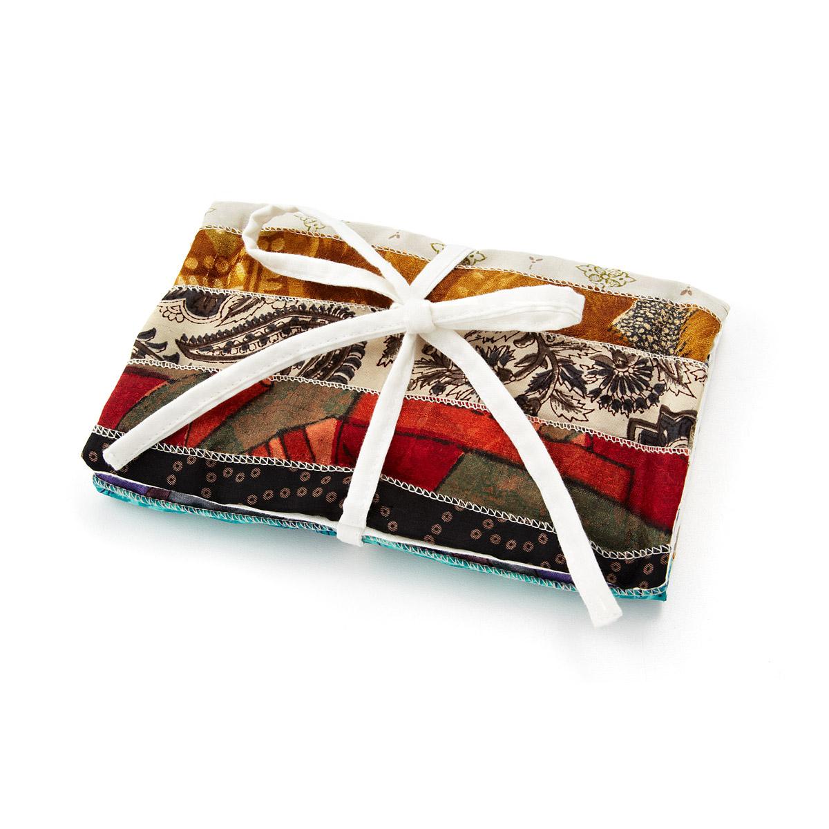 Upcycled Sari Jewelry Roll gift