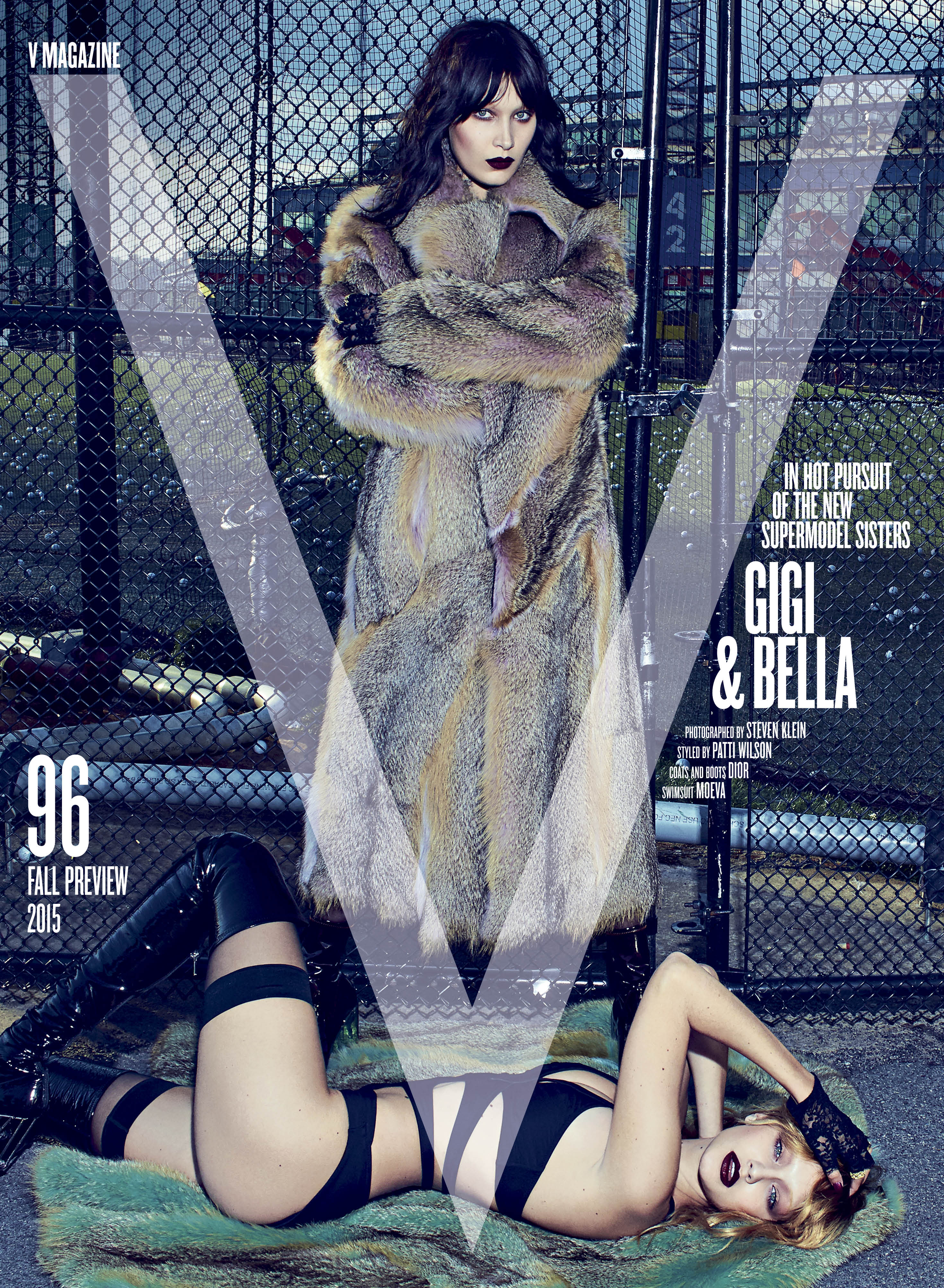 Gigi and Bella Hadid on the cover of V Magaine