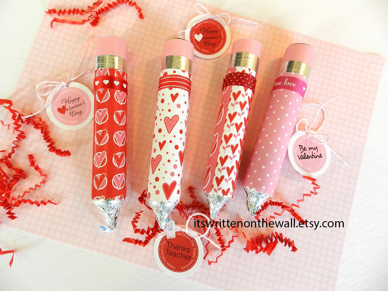 valentine's rolo pencils