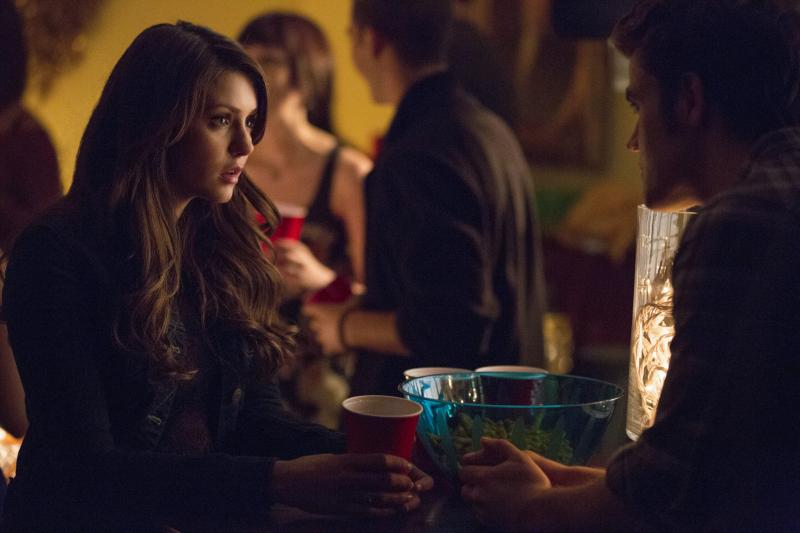 Elena and Stefan in The Vampire Diares