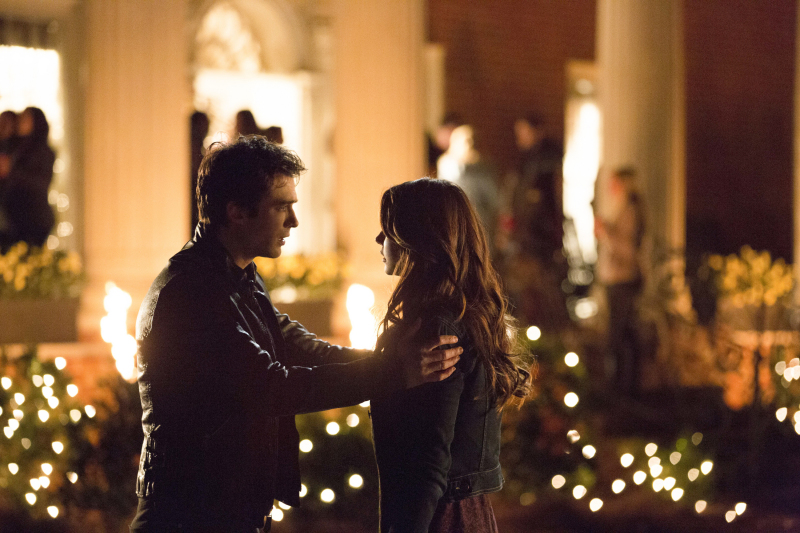 Elena and Damon in The Vampire Diaries