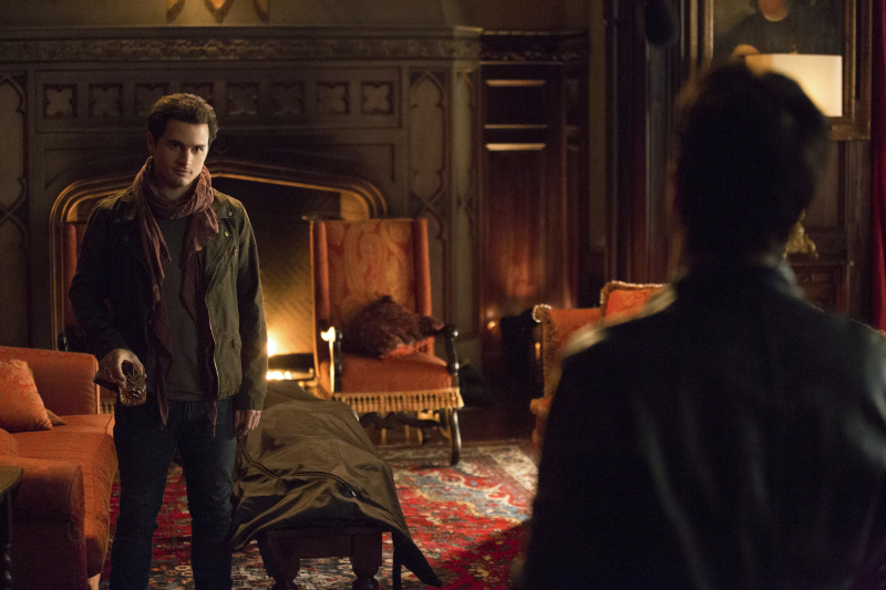 Enzo and Damon in The Vampire Diaries