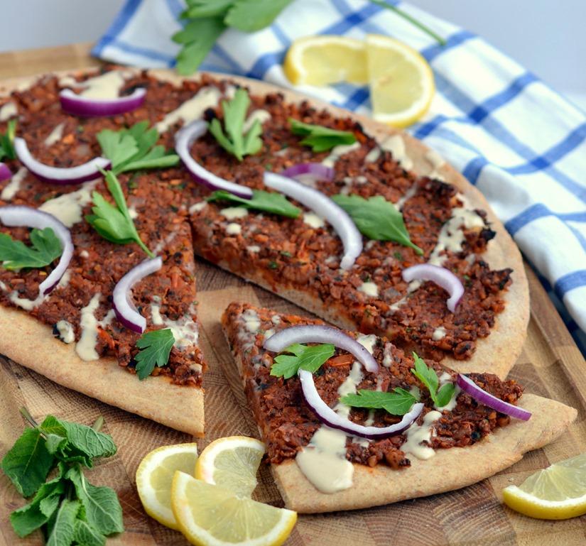 vegan turkish pizzas