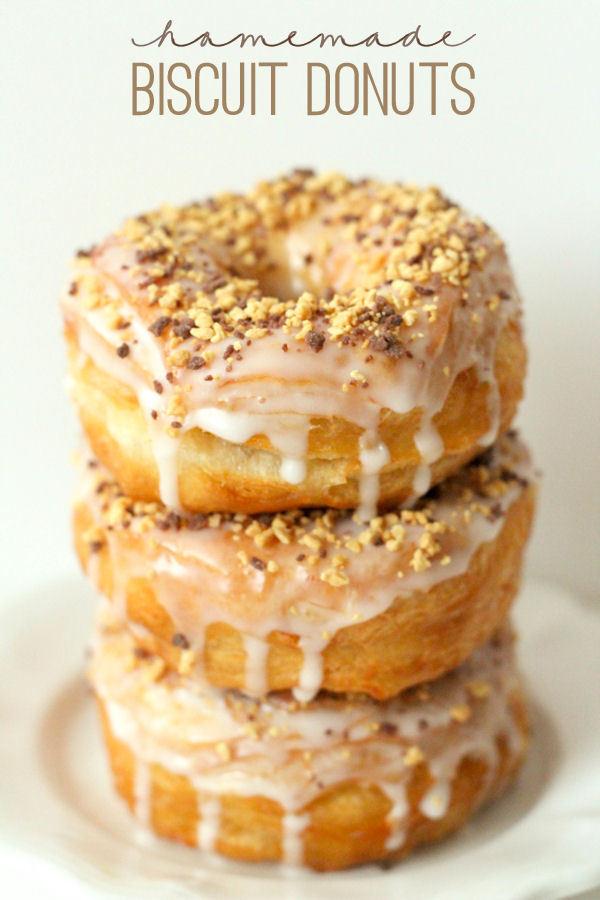 Vegan biscuit dough donuts