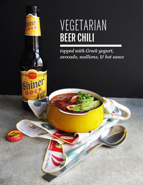 Vegetarian beer chili