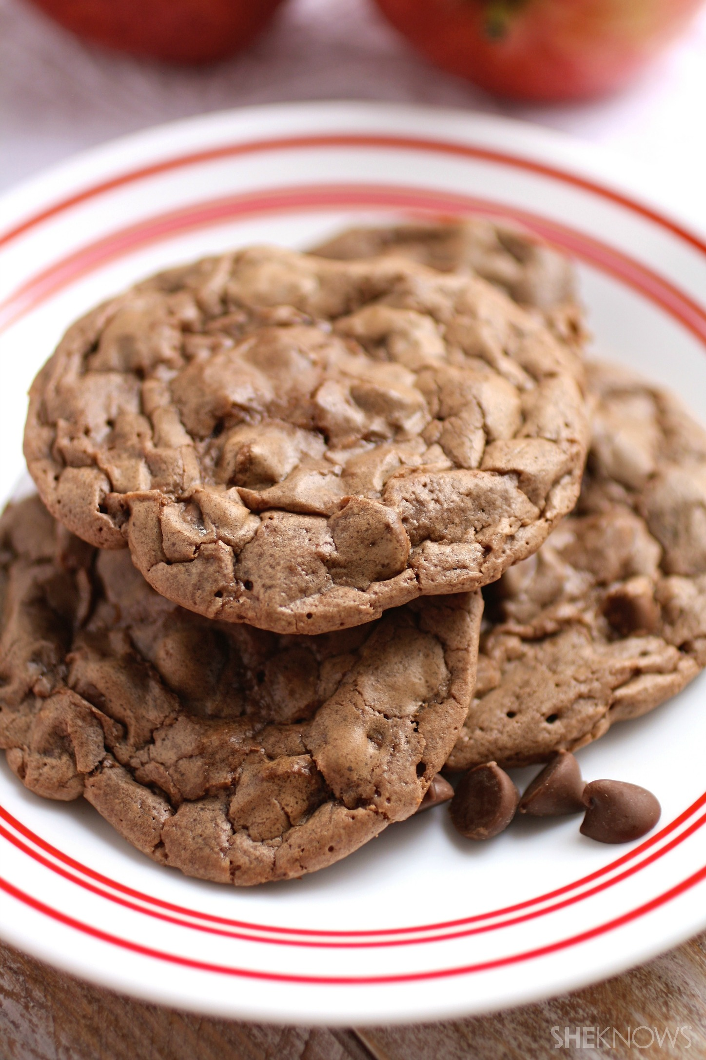 Offer up a plate of chocolate fudge cookies
