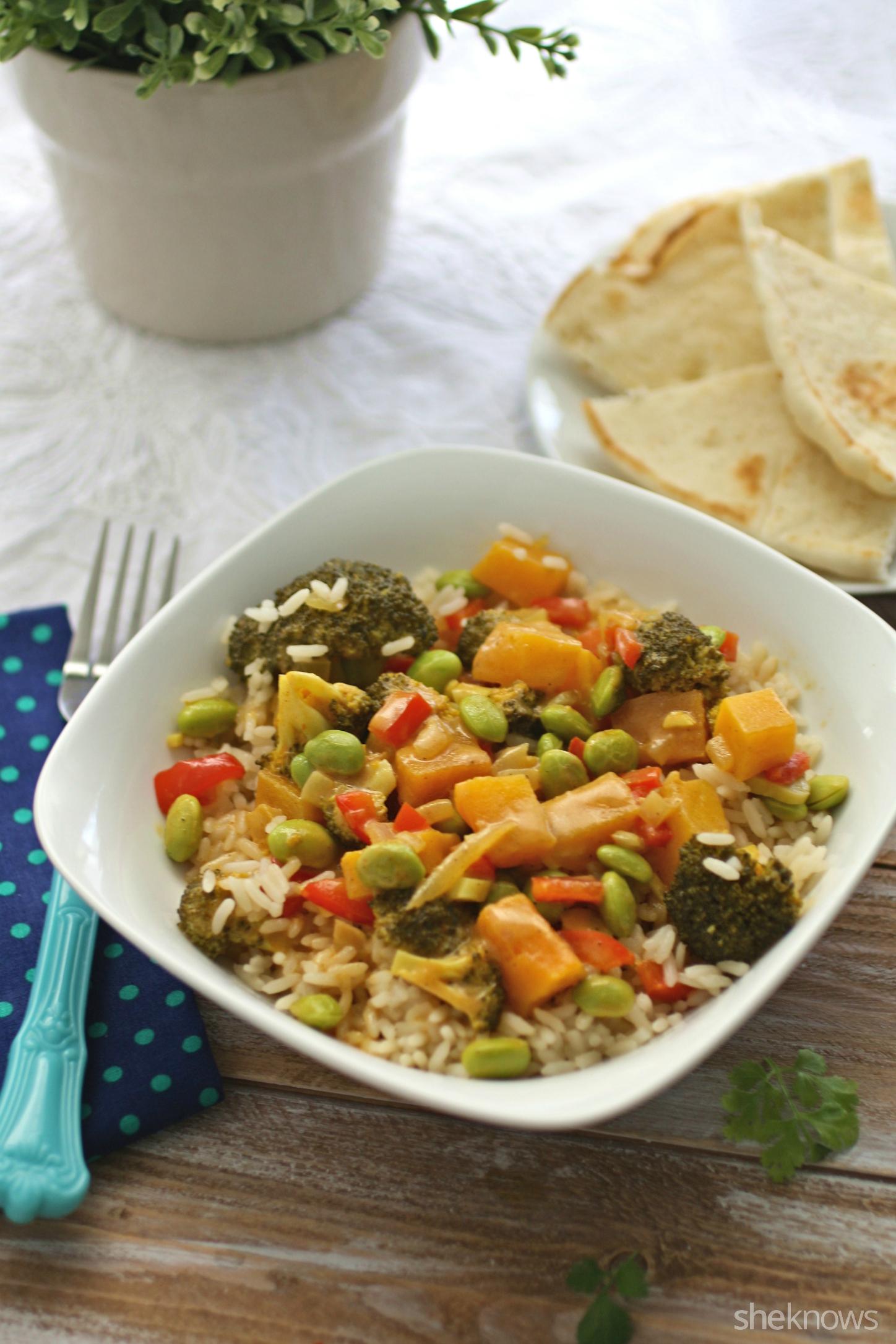 Enjoy a Meatless Monday dish like lightened up vegetable korma
