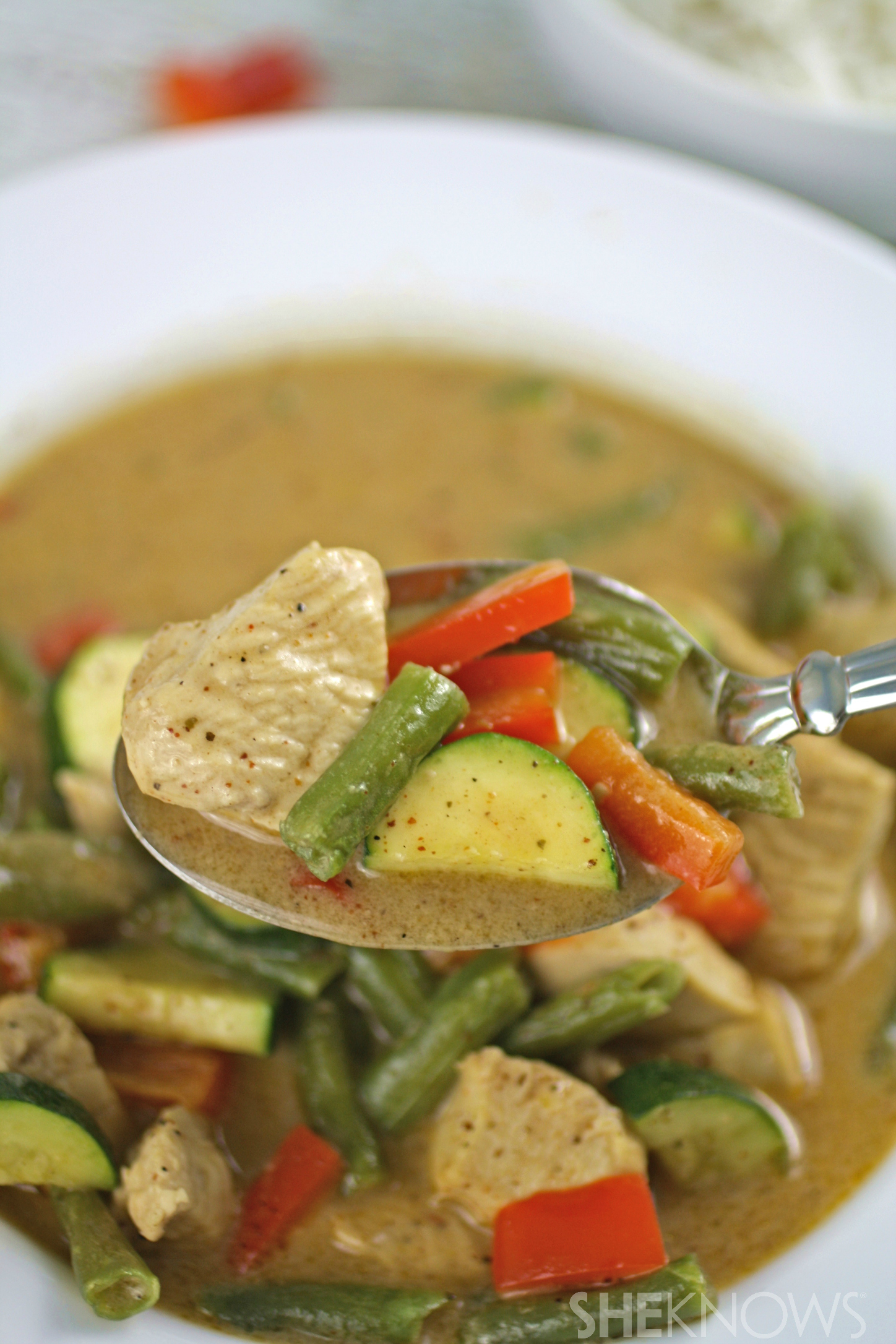 Dig into this meal: Panang curry with chicken is rich and flavorful