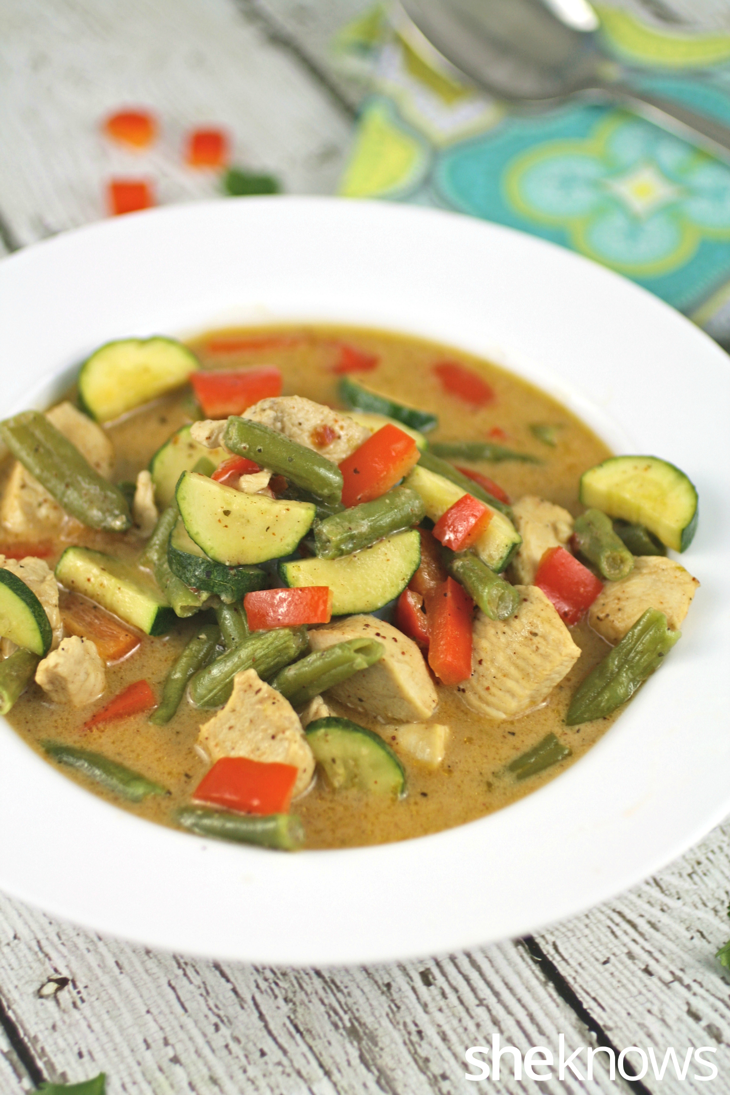Panang curry with chicken is a delight for the senses