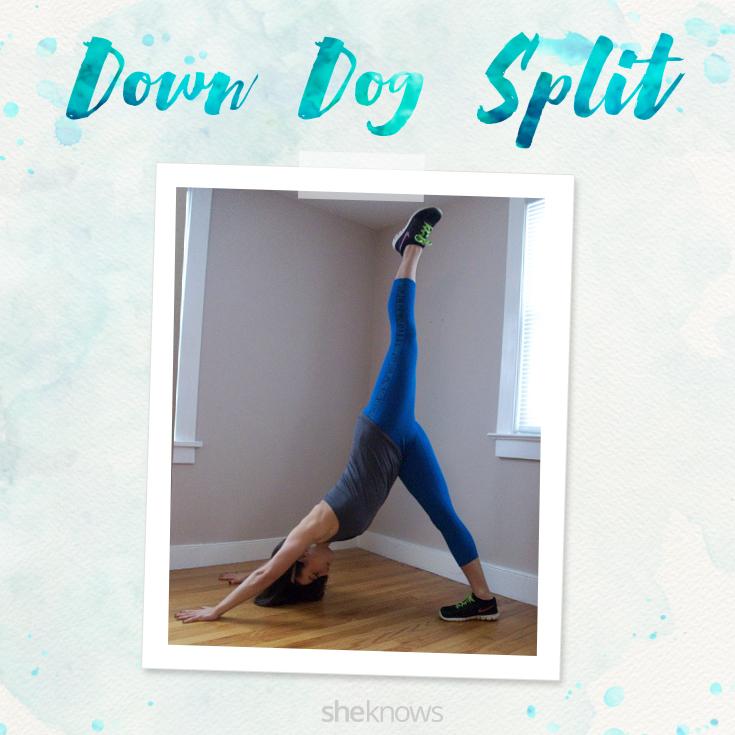 Downward Dog Split