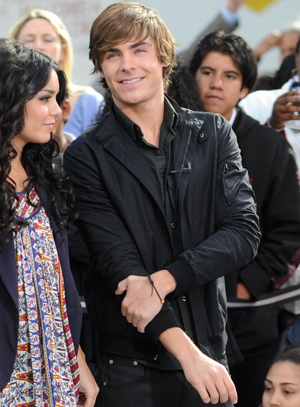Zac and girlfriend Vanessa Hudgens on GMA