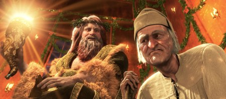 Jim Carrey as two roles in Robert Zemeckis' A Christmas Carol