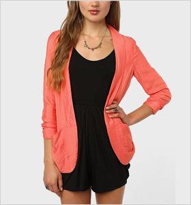 drapey coral blazer