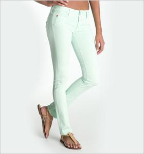 mint Hudson skinny jeans