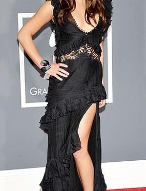 Grammys fashion: Lea Michele, Jennifer Hudson