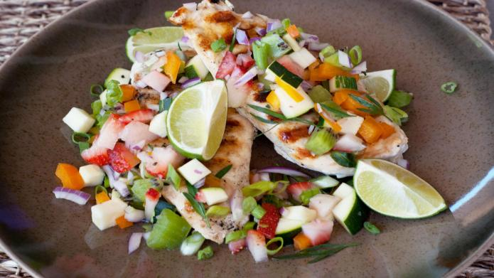 Key lime grilled chicken with paradise