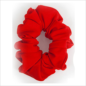 An old-school red scrunchie