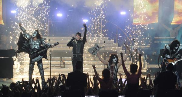 Adam Lambert and Kiss rock American Idol