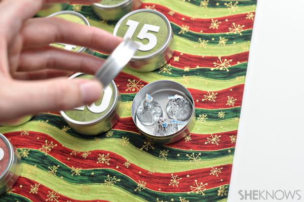 DIY Advent calendar - Add candy