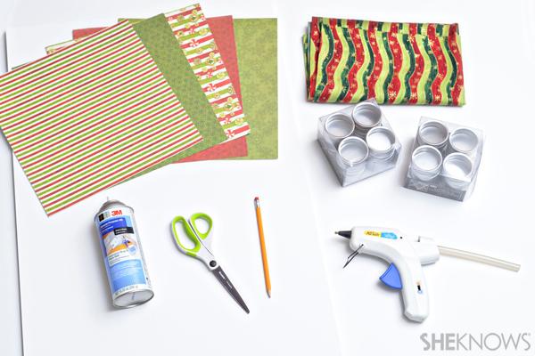 DIY Advent calendar supplies