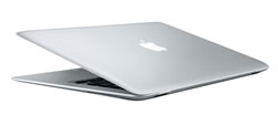 The Macbook Air is smaller and lighter than ever.