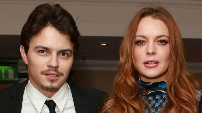 Lindsay Lohan and her fiancé make