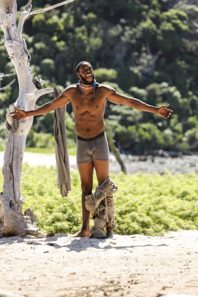 Alan Ball in underwear on Survivor: Heroes Vs. Healers Vs. Hustlers