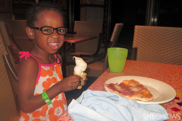 Pizza and ice cream on Carnival Conquest