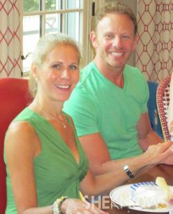 Allison Ziering-Walmark and Ian Ziering
