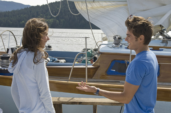 Amanda Crew and Zac Efron from Charlie St. Cloud