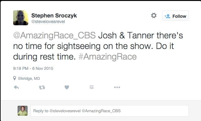 Amazing Race @stevelovesrevel