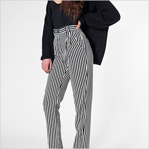 american apparel stripe pants