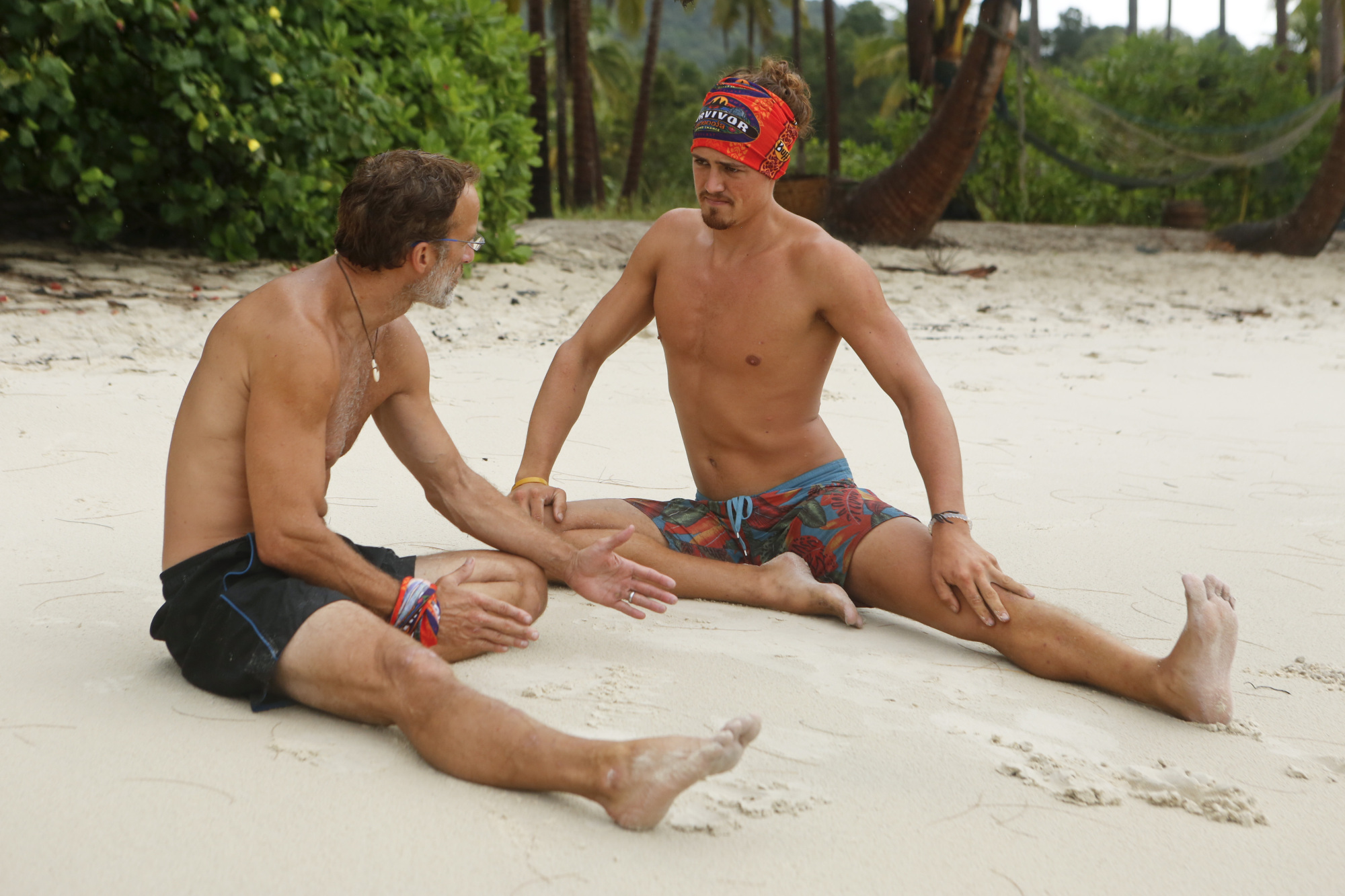 Andrew Savage with Joe Anglim on Survivor: Second Chance
