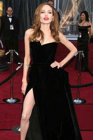 Angelina Jolie's leg becomes a meme