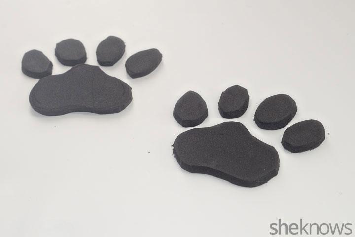 Animal print flip flops step 2