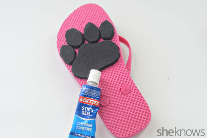 Animal print flip flop step 3