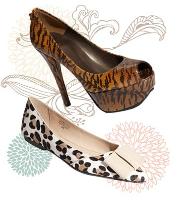 Animal printed shoes